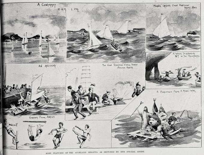 1902 Auckland Anniversary Day regatta