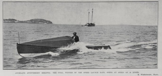The Togo, Winner of the Speed Launch Race in the 1906